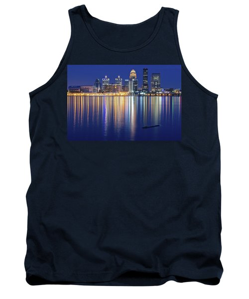 Louisville During Blue Hour Tank Top by Frozen in Time Fine Art Photography