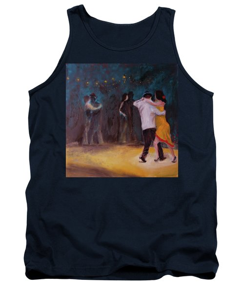 Tank Top featuring the painting Love In The Spotlight by Keith Thue