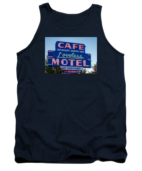 Loveless Cafe And Motel Sign Tank Top by Debra Martz