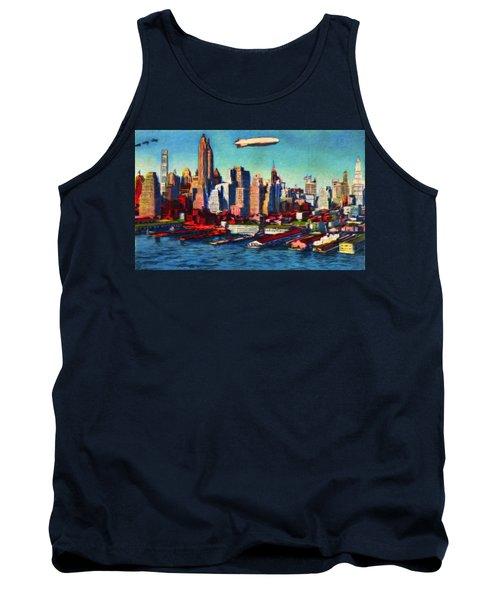 Lower Manhattan Skyline New York City Tank Top