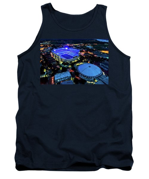 Lsu Tiger Stadium Supports Law Enforcement Tank Top by Andy Crawford