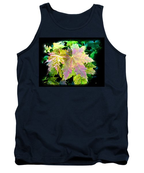 Tank Top featuring the mixed media Lush Spring Foliage by Will Borden