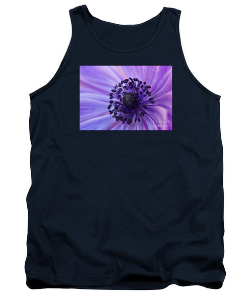 Macro Of Lavender Purple Anemone Tank Top
