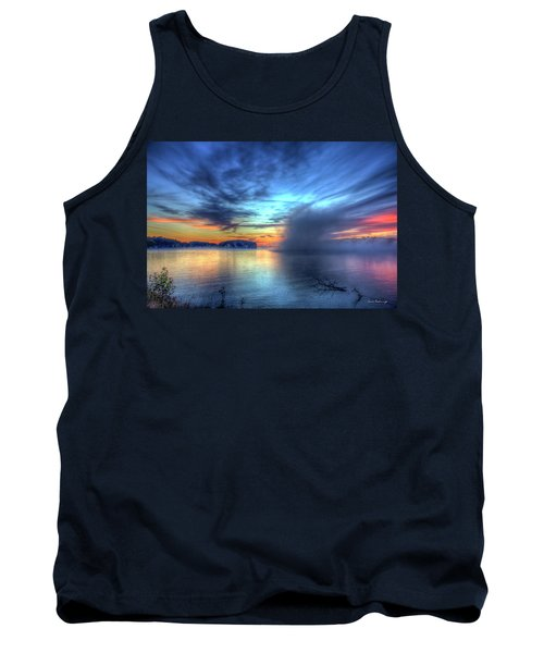 Majestic Sunrise Fog Sugar Creek Lake Oconee Tank Top