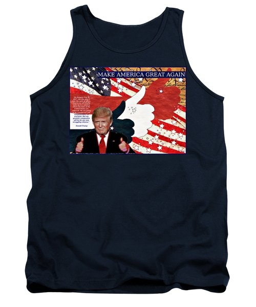 Tank Top featuring the digital art Make America Great Again - President Donald Trump by Glenn McCarthy Art and Photography