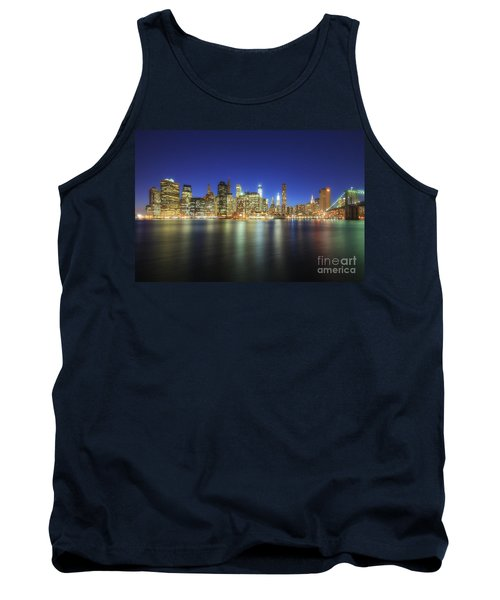 Manhattan Nite Lites Nyc Tank Top by Yhun Suarez