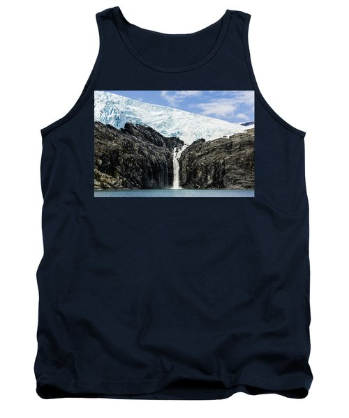 Meltwater From The Northland Glacier Tank Top by Ray Bulson