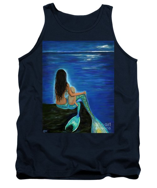 Tank Top featuring the painting Mermaid And Her Daughter by Leslie Allen