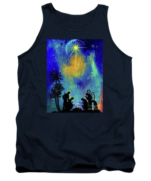 Tank Top featuring the painting  Merry Christmas To All. by Andrzej Szczerski