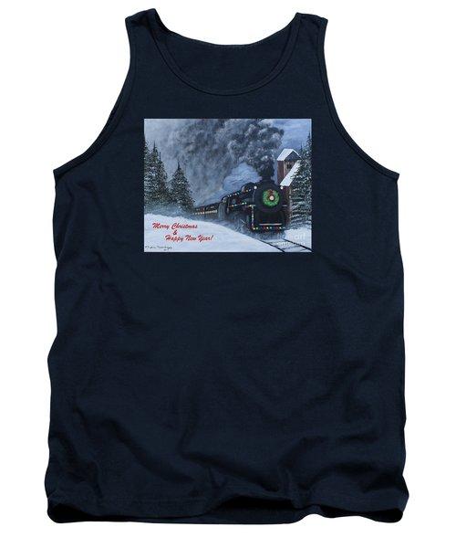 Merry Christmas Train Tank Top