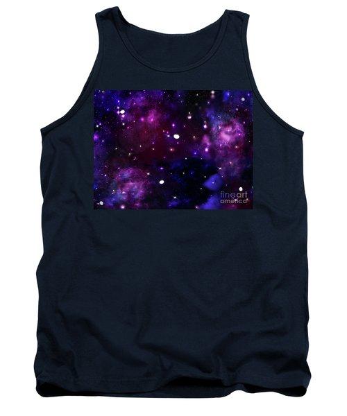 Midnight Blue Purple Galaxy Tank Top