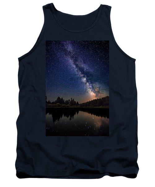 Milky Way Over The Deschutes River Tank Top