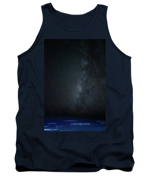 Milky Way Over Poipu Beach Tank Top by Roger Mullenhour