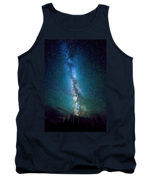 Millky Way Over Lodgepole Pines Tank Top