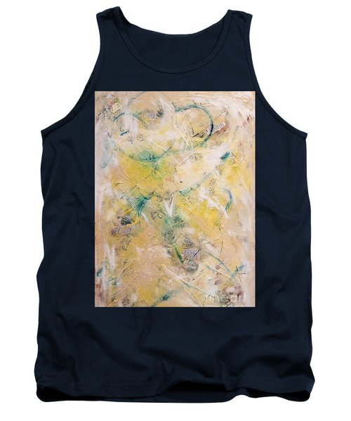 Mixed-media Free Fall Tank Top