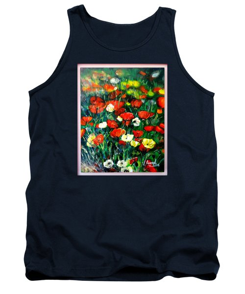 Tank Top featuring the painting Mixed Puppies  by Laila Awad Jamaleldin