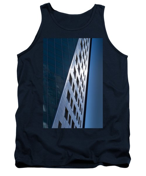 Tank Top featuring the photograph Blue Modern Apartment Building by John Williams