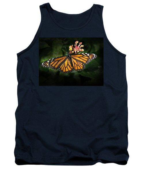 Monarch Butterfly On Lantana Tank Top