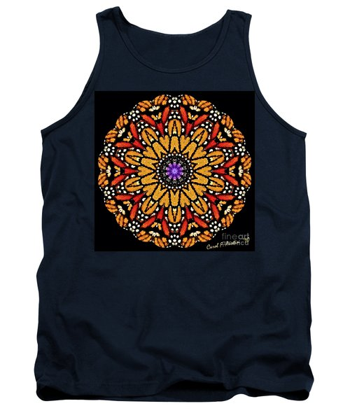 Monarch Butterfly Wings Kaleidoscope Tank Top
