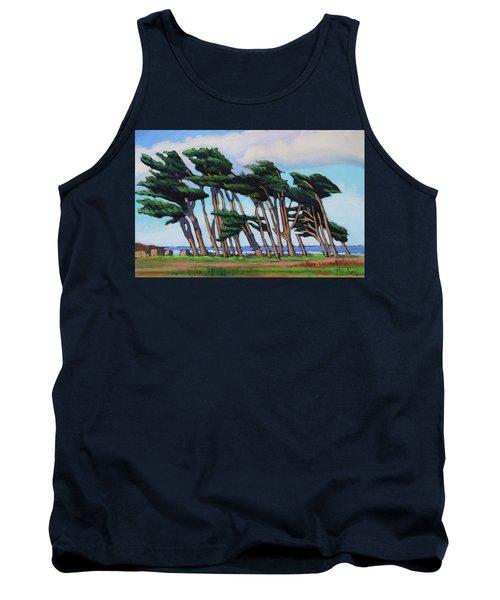 Monterey Cypress Row  Tank Top