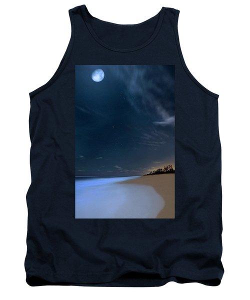 Moon Over Hobe Sound Beach Florida  Tank Top