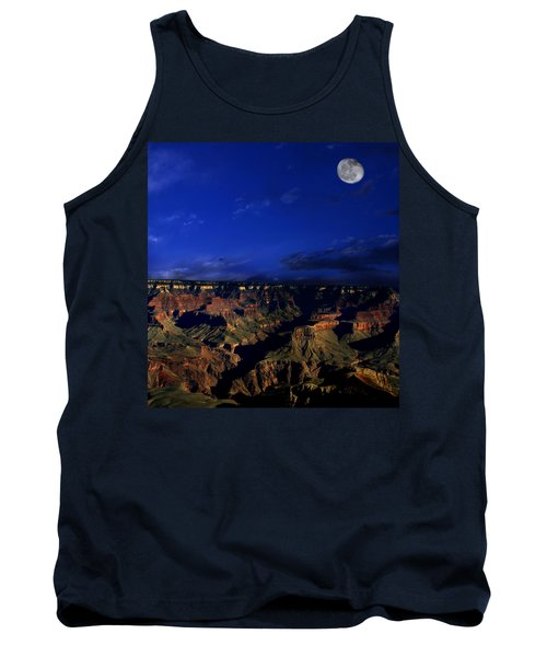 Moon Over The Canyon Tank Top by Anthony Jones