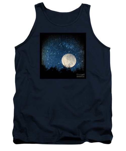 Moon, Tree And Stars Tank Top