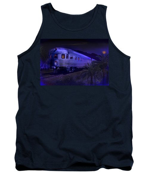 Moonlight On The Sante Fe Chief Tank Top by J Griff Griffin