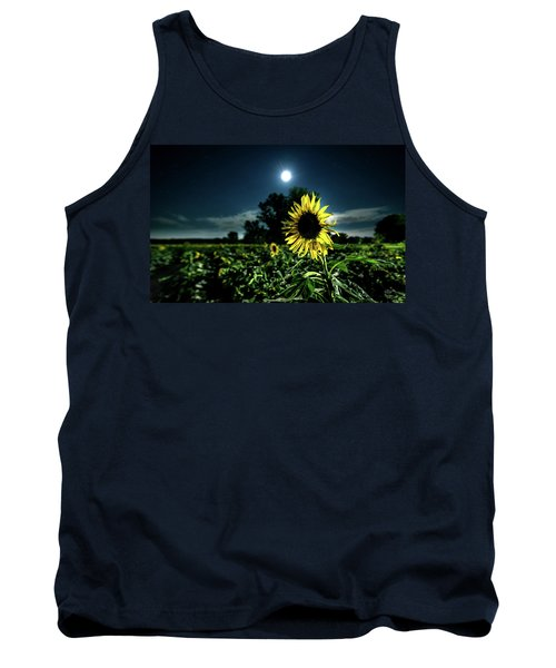 Tank Top featuring the photograph Moonlighting Sunflower by Everet Regal