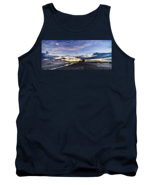 Moonlit Beach Sunset Seascape 0272c Tank Top