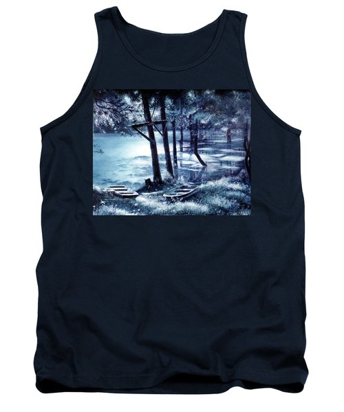 Moonlite On Village Creek Tank Top