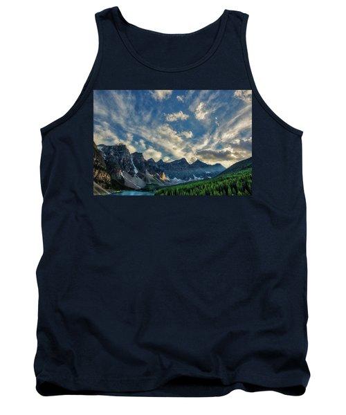 Moraine Lake Sunset - Golden Rays Tank Top