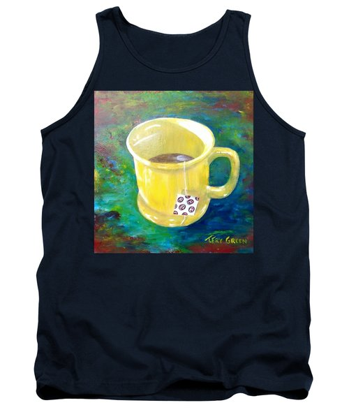 Morning Tea Tank Top by T Fry-Green