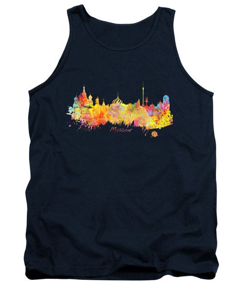 Moscow Skyline  Tank Top by Justyna JBJart