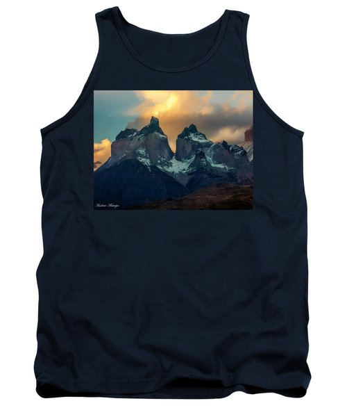 Tank Top featuring the photograph Mountain Evening by Andrew Matwijec
