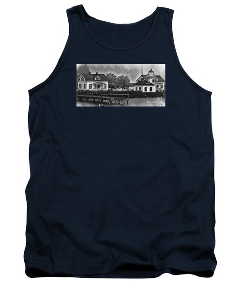 Mukilteo Lighthouse And The Dock Tank Top by Kirt Tisdale