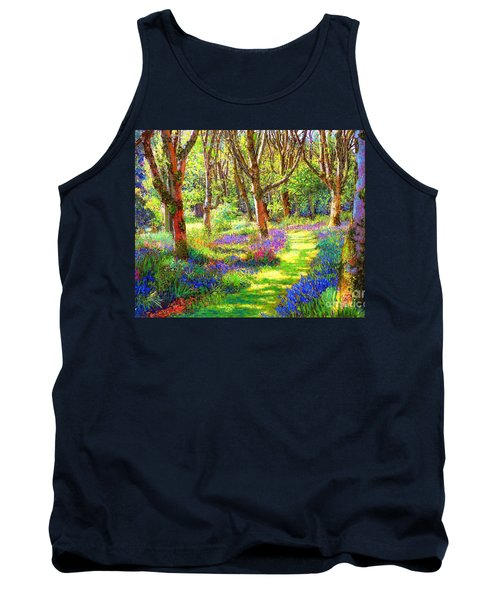 Tank Top featuring the painting Music Of Light, Bluebell Woods by Jane Small