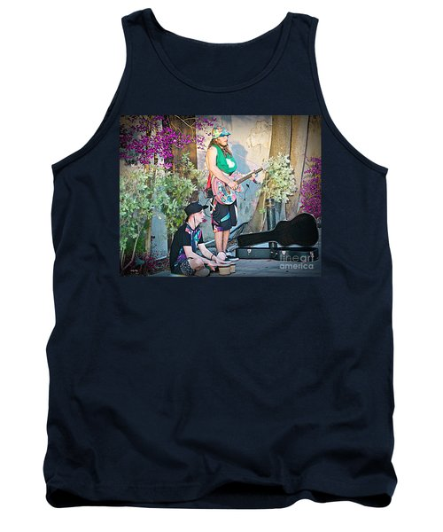 Music On The Side Tank Top by Judy Kay