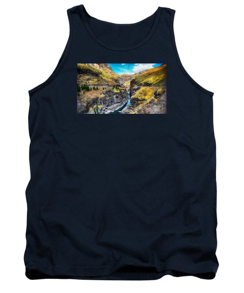 Narrow River In Mountains Tank Top