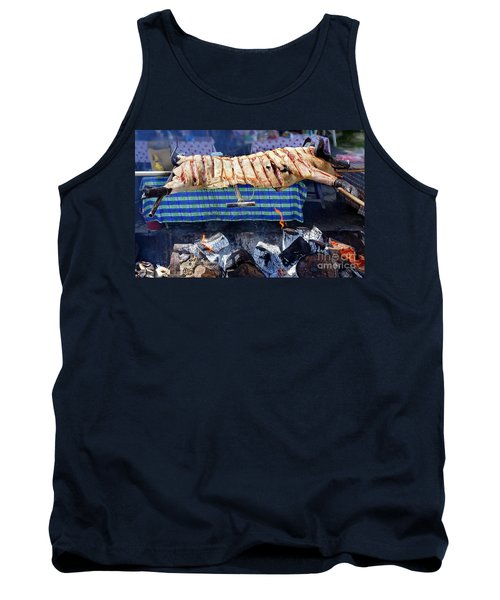 Tank Top featuring the photograph Native Barbecue In Taiwan by Yali Shi