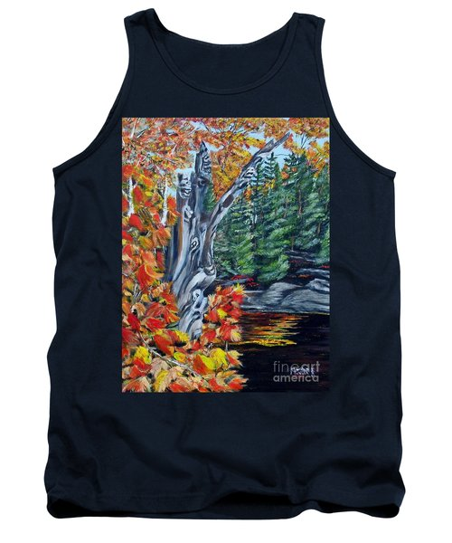 Tank Top featuring the painting Natures Faces by Marilyn  McNish