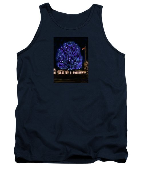 Needham's Blue Tree Tank Top