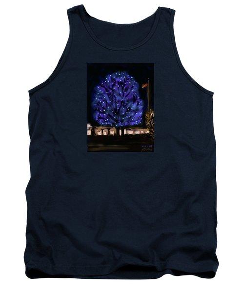 Needham's Blue Tree Tank Top