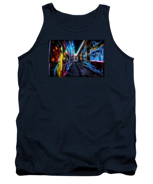 Tank Top featuring the photograph Neon Aleey by Michaela Preston