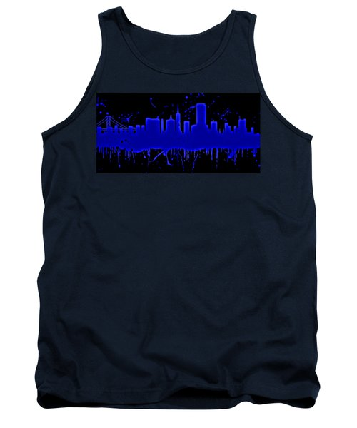 Neon San Francisco Skyline Tank Top