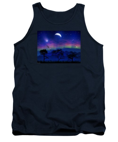 Tank Top featuring the photograph Neverending Nights by Bernd Hau