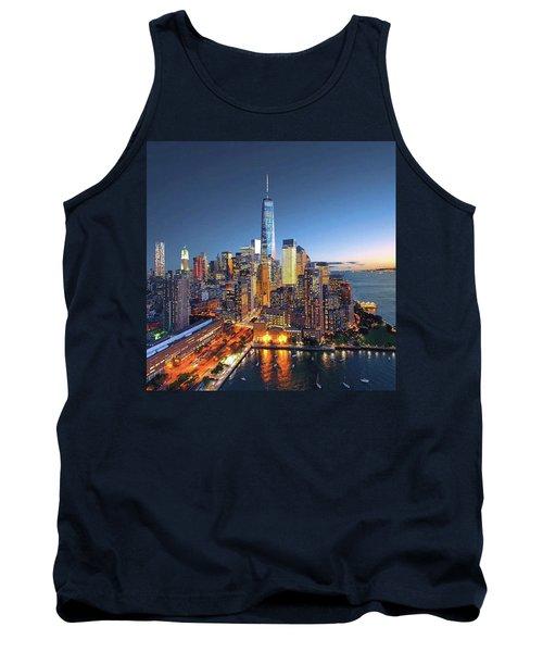New York Skyline Sunset Tank Top
