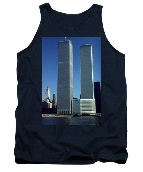 New York World Trade Center Before 911 - Architecture Tank Top by Art America Gallery Peter Potter