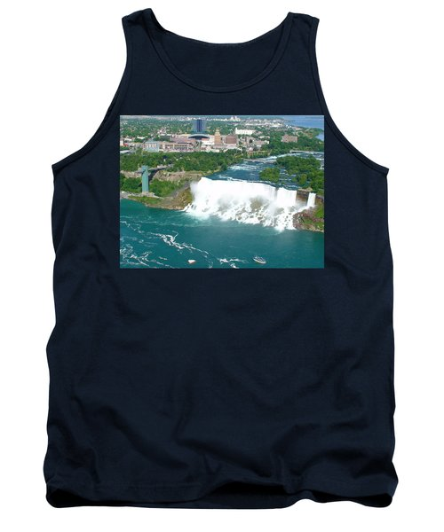Tank Top featuring the photograph Niagara American And Bridal Veil Falls  by Charles Kraus