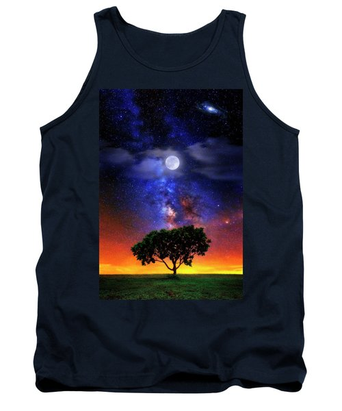 Tank Top featuring the photograph Night Colors by Justin Kelefas